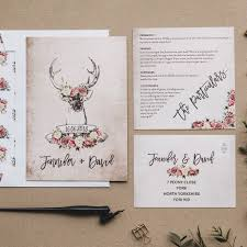 country wedding invitations stag and country wedding invitations by i am nat