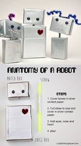 diy robot craft for kids make a whole family of cute little