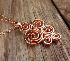 copper jewelry necklace images Spiral pendant copper everyday jewelry jewelry by elsa jpg