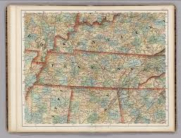 Maps Tennessee by Kentucky Tennessee Mississippi Alabama David Rumsey