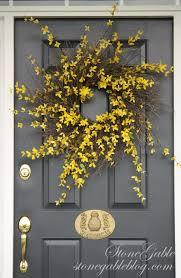 forsythia wreath tutorial stonegable