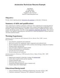 Resume Sample Of Mechanical Engineer Automotive Technician Resume Examples Resume Example And Free