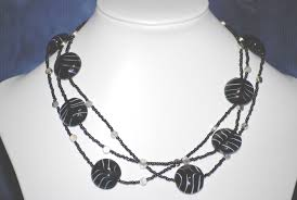 black glass necklace images N131 black glass bead necklace linart jpg