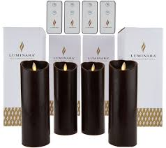 luminara 4 8 flameless candles with 4 remotes and gift boxes