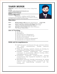 Resume For Admin Job by 10 Cv Format For Job Application Basic Job Appication Letter