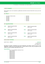 Best Resume Layouts Sample Resume Template Word Word Free Resume Templates Word Free