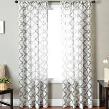 Trellis Curtain Panel The Collected Interior Week End Shopping Patterned Curtain Panels