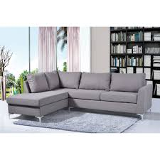 Grey Chaise Sectional Furniture Reversible Chaise Sectional For Comfortable Living Room