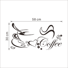 Drop Shipping Home Decor by Wall Sticker Picture More Detailed Picture About Coffee Cup With