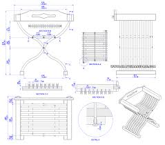 medieval chair plan assembly 2d drawing snedkeri pinterest