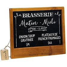 Retro Chalkboards For Kitchen by Amazon Com Cwi Gifts Large Distressed Slate Blackboard With
