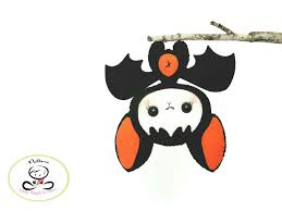 baby bat pattern pdf file halloween ornament felt ornament diy