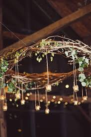 Hanging Light Decorations Rustic Branch Chandelier With Hanging Votives Branch Chandelier