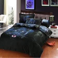 Manly Bed Sets 3d Wildlife Animal Panther Black Leopard Print Manly Bedding Sets