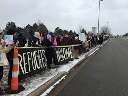 grand rapids mi airport west michigan protests trump s muslim ban at ford airport fight