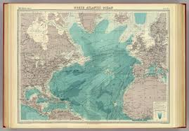 Atlantic Ocean On A World Map by North Atlantic Ocean David Rumsey Historical Map Collection