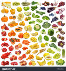 rainbow collection fruits vegetables stock photo 82887481