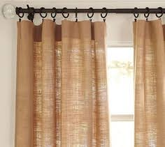 Grommet Burlap Curtains Something Like This For Drapes In Master Miss Ter Bedroom