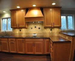 kitchen oak cabinets with dark floors honey floor kitchen wood