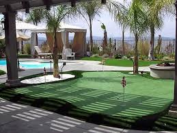 Artificial Backyard Putting Green by Fake Grass Carpet Gardena California Indoor Putting Green