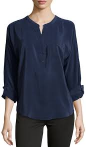 navy blouse joie silk split neck blouse navy where to buy how to wear