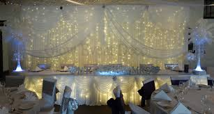 Ceiling Drapes With Fairy Lights Backdrops Glow Event Decor