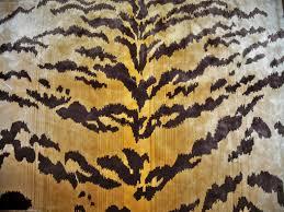 lee jofa tigre tiger silk cut velvet fabric 2 yards gold ivory