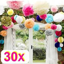 rzctukltd 30 mix wedding decorations tissue paper pompoms 3