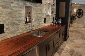 wood countertops butcher block tops j aaron wood countertop in wet bar