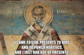 St Nicholas Meme - when santa punched a heretic in the face 13 memes on st nicholas