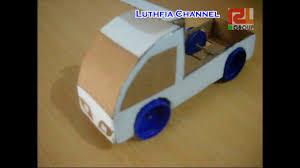 membuat miniatur mobil dari kardus mobil ikrak atau pick up car makes pick up use cardboard used