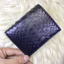 Sho Wallet snake skin wallet real python skin leather wallet for