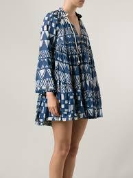yvonne s babydoll hippy dress in blue lyst