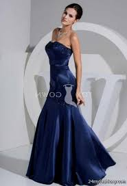 navy blue satin mermaid dress 2016 2017 b2b fashion
