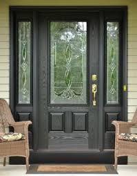 fiberglass front doors with glass model 440 signet fiberglass front entry door coal black with aged