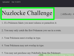 How To Do Challenge How To Do A Nuzlocke Challenge In Pokémon 10 Steps