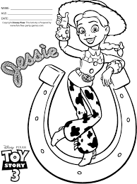 story 3 coloring pages jessie cowgirl horseshoe tipping