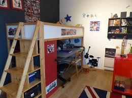 lit mezzanine avec bureau ikea lit kura mezzanine et bureau intégré