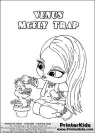 monster high chibi coloring pages monster high venus mcfly trap baby chibi cute coloring page 2