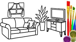 colors for livingroom learn colors for childrens with drawing livingroom coloring pages