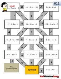 combining like terms mazes fun worksheets by mathfilefoldergames