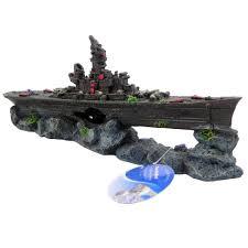 sunken wreck battleship aquarium ornament aquar ornaments at