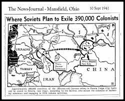 Volga River Map Deportation 1941 Norka