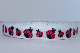 ladybug ribbon hot pink gg designer grosgrain ribbon 7 8 08 ribbon canada