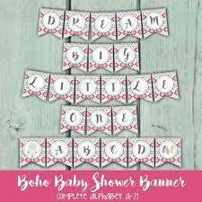 bohemian baby shower boho baby shower banner tribal print baby shower banner bohemian