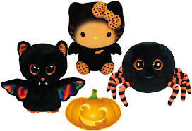Hello Kitty Halloween Fabric amazon com ty beanie boos halloween crawly spider scarem bat