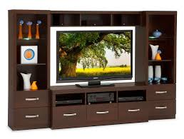huxley 4 piece entertainment wall unit java maple leon u0027s