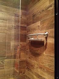 wood tile bathroom shower bathroom design and shower ideas