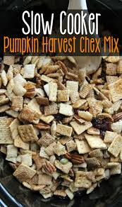 cooker pumpkin harvest chex mix family fresh meals