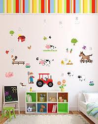 Nursery Rhyme Wall Decals Macdonald Had A Farm Animals Nursery Rhyme Wall Stickers